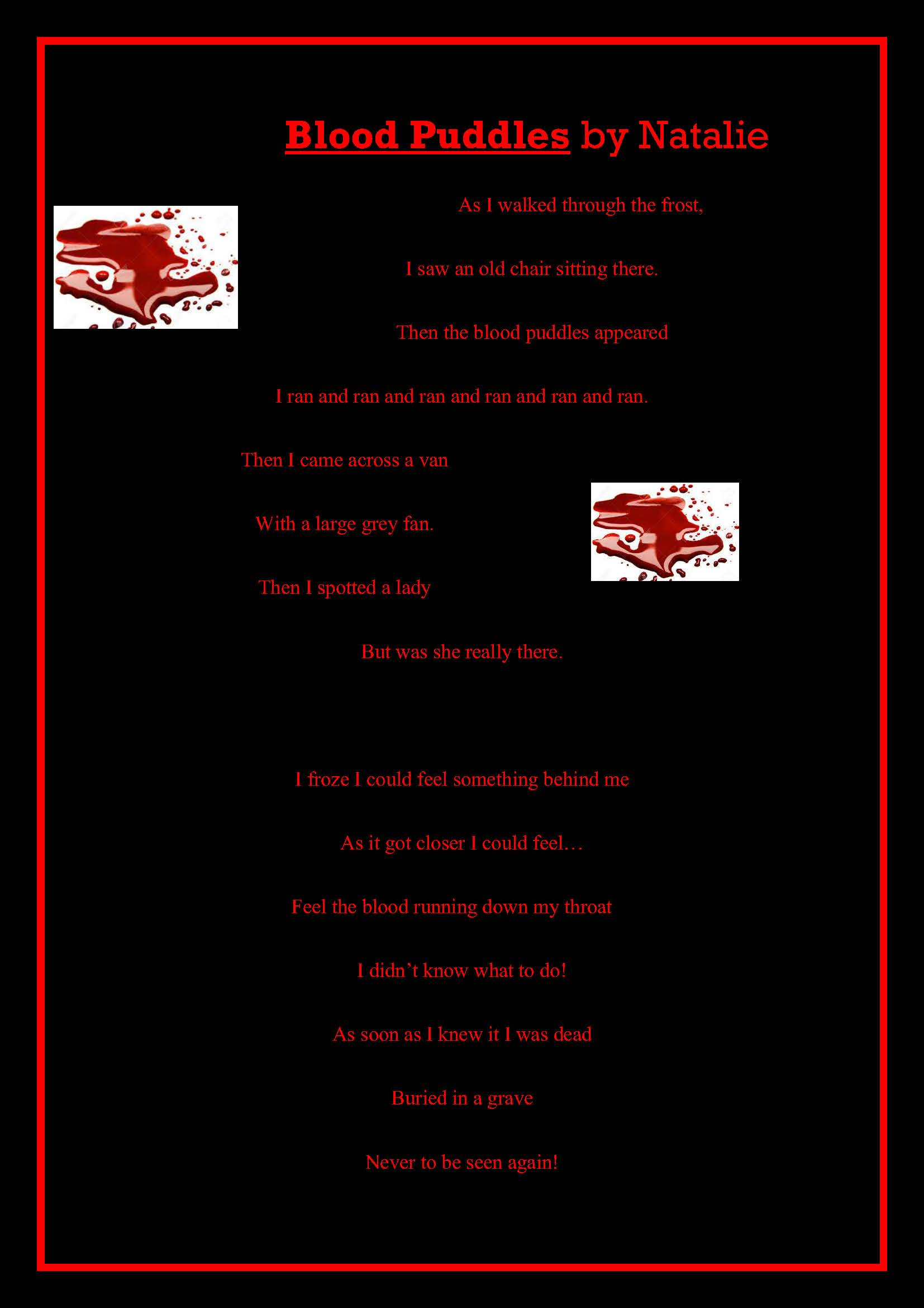 Years 5/6 Scary Poems