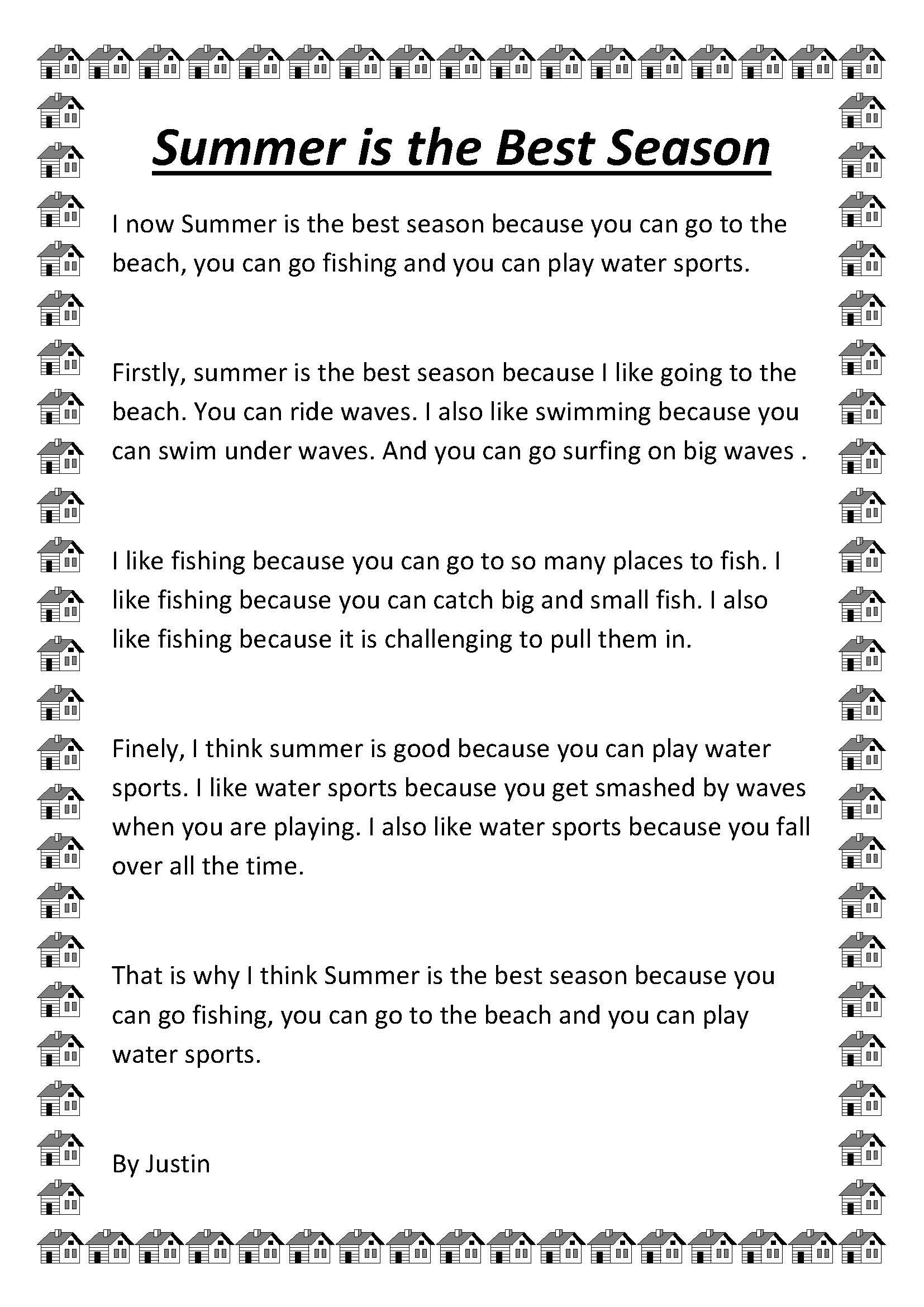 Summer is my favorite season essay